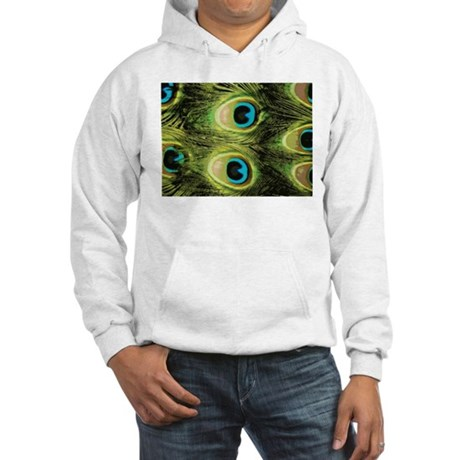 Peacock Feathers Macro Hooded Sweatshirt