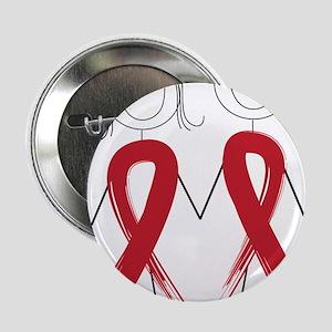 """Aids Ribbon Body 2.25"""" Button"""