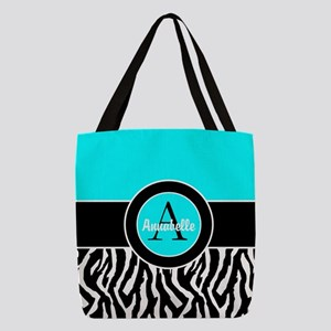 Turquoise Zebra Monogram Personalized Polyester To