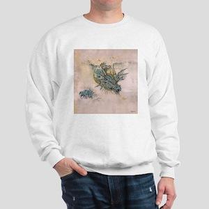 Blue Dragon In The Mist Sweatshirt