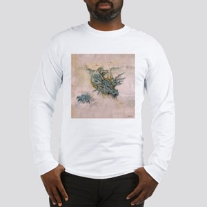 Blue Dragon In The Mist Long Sleeve T-Shirt