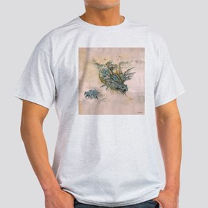 Blue Dragon In The Mist Light T-Shirt