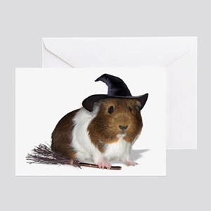 Guinea Pig Witch Cards (Pk of 10)