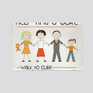 Walk To Cure Rectangle Magnet