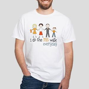The MS Walk White T-Shirt