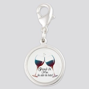 Friends and Wine the older the better Silver Round