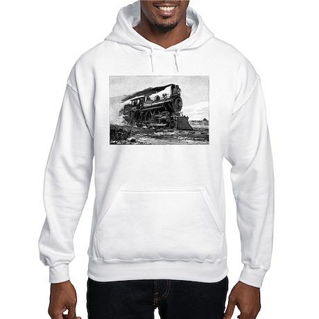Steam Locomotive Hooded Sweatshirt