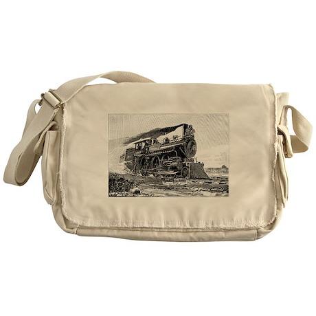 Steam Locomotive Messenger Bag