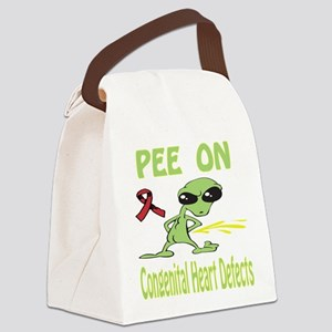 Pee on Congenital Heart Defects Canvas Lunch Bag