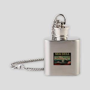 Sea Gulls Flask Necklace
