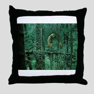 Green Woods Owl Throw Pillow