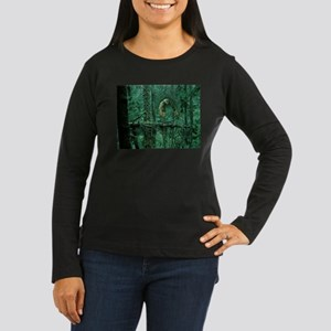 Green Woods Owl Women's Long Sleeve Dark T-Shirt
