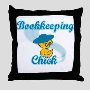 Bookkeeping Chick #3 Throw Pillow