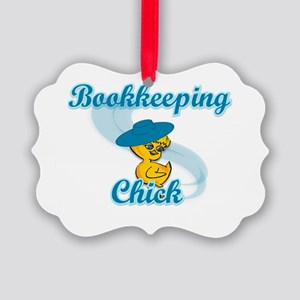 Bookkeeping Chick #3 Picture Ornament