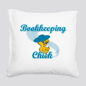 Bookkeeping Chick #3 Square Canvas Pillow