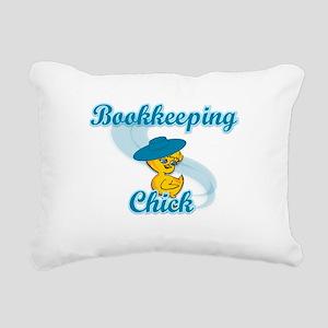 Bookkeeping Chick #3 Rectangular Canvas Pillow