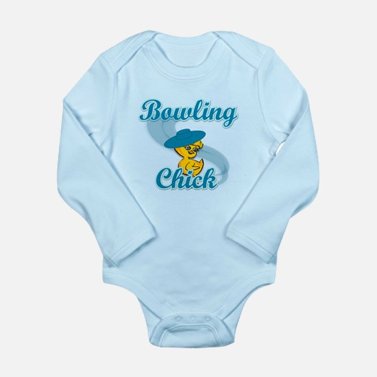 Bowling Chick #3 Long Sleeve Infant Bodysuit