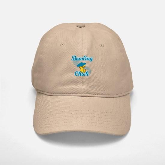 Bowling Chick #3 Baseball Baseball Cap