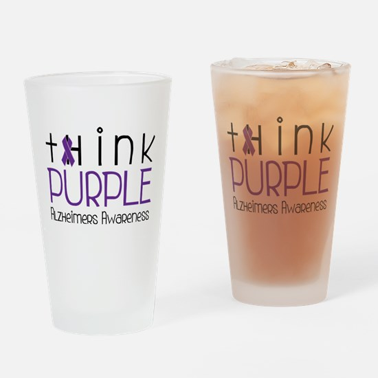 Think Purple Drinking Glass