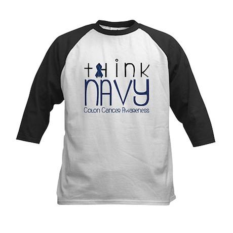 Think Navy Kids Baseball Jersey