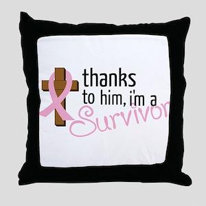 Im A Survivor Throw Pillow