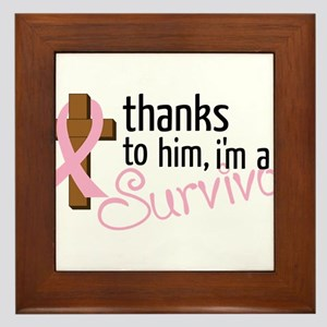 Im A Survivor Framed Tile