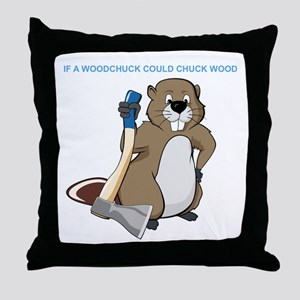 Could Chuck Wood Throw Pillow