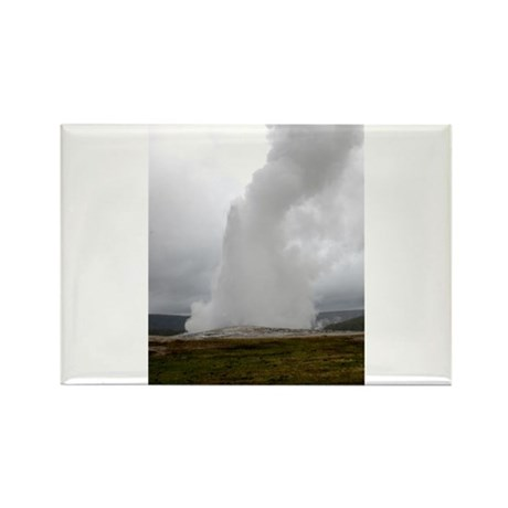Old Faithful Geyser Rectangle Magnet