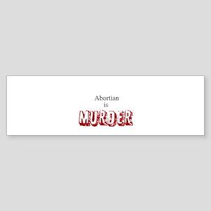 Murder Sticker (Bumper)