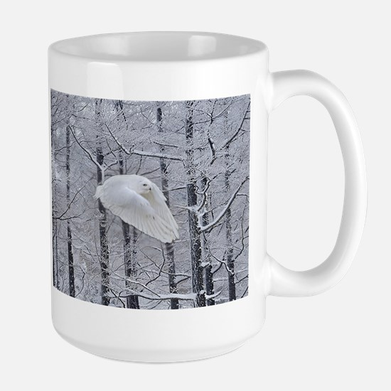 Snowy Owl, Praying Wings Large Mug