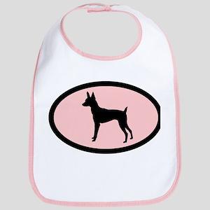 toy fox terrier retro pink Bib