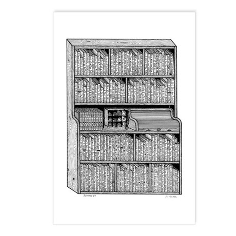 Bookshelf #7 Postcards (Package of 8)