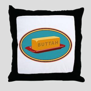 Buttah Dish Throw Pillow