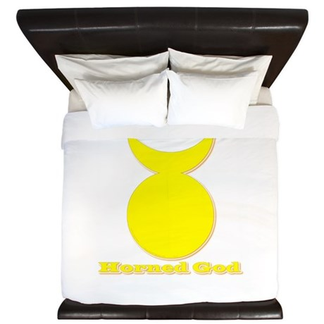 Horned God King Duvet