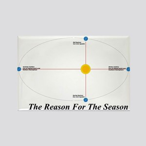 The Reason for the Seasons - black Rectangle Magne