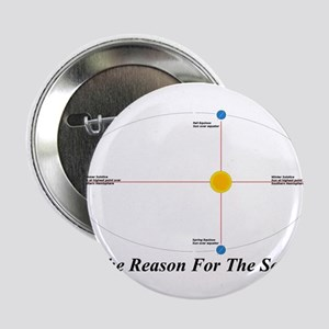 """The Reason for the Seasons - black 2.25"""" Button"""