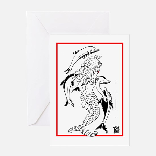"""Mermaid's Dance #2"" Greeting Cards"