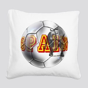 Spanish Soccer Ball Square Canvas Pillow