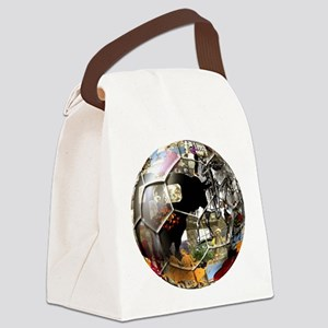 Spanish Culture Football Canvas Lunch Bag
