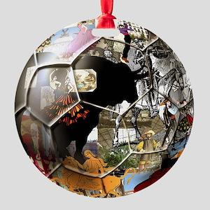 Spanish Culture Football Round Ornament