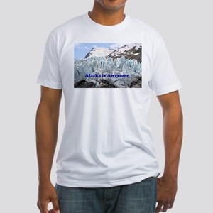 Alaska is Awesome: Portage Glacier, USA Fitted T-S