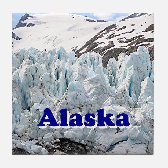 Alaska: Portage Glacier, USA Tile Coaster