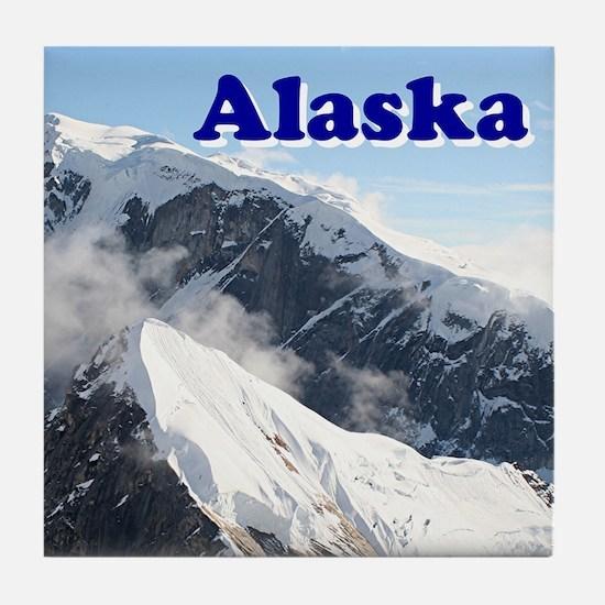 Alaska: Alaska Range, USA Tile Coaster