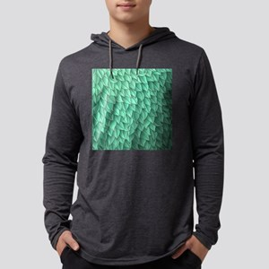 Abstract Leaves Mens Hooded Shirt