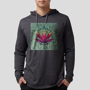 Marijuana Leaf Mens Hooded Shirt