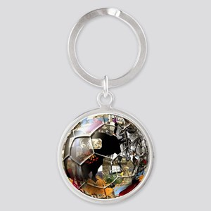 Spanish Culture Football Round Keychain