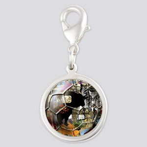 Spanish Culture Football Silver Round Charm