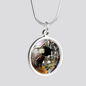 Spanish Culture Football Silver Round Necklace