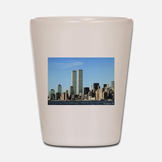 Unique Twin towers Shot Glass