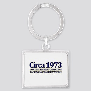 Funny 40th Gifts, Circa 1973 Landscape Keychain